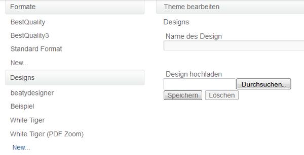 Design importieren